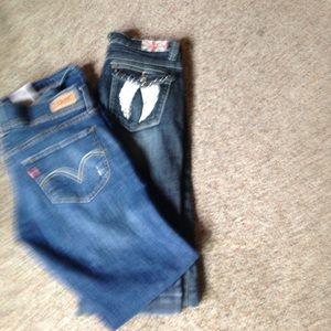 524 Levi's & Machine jeans size 9